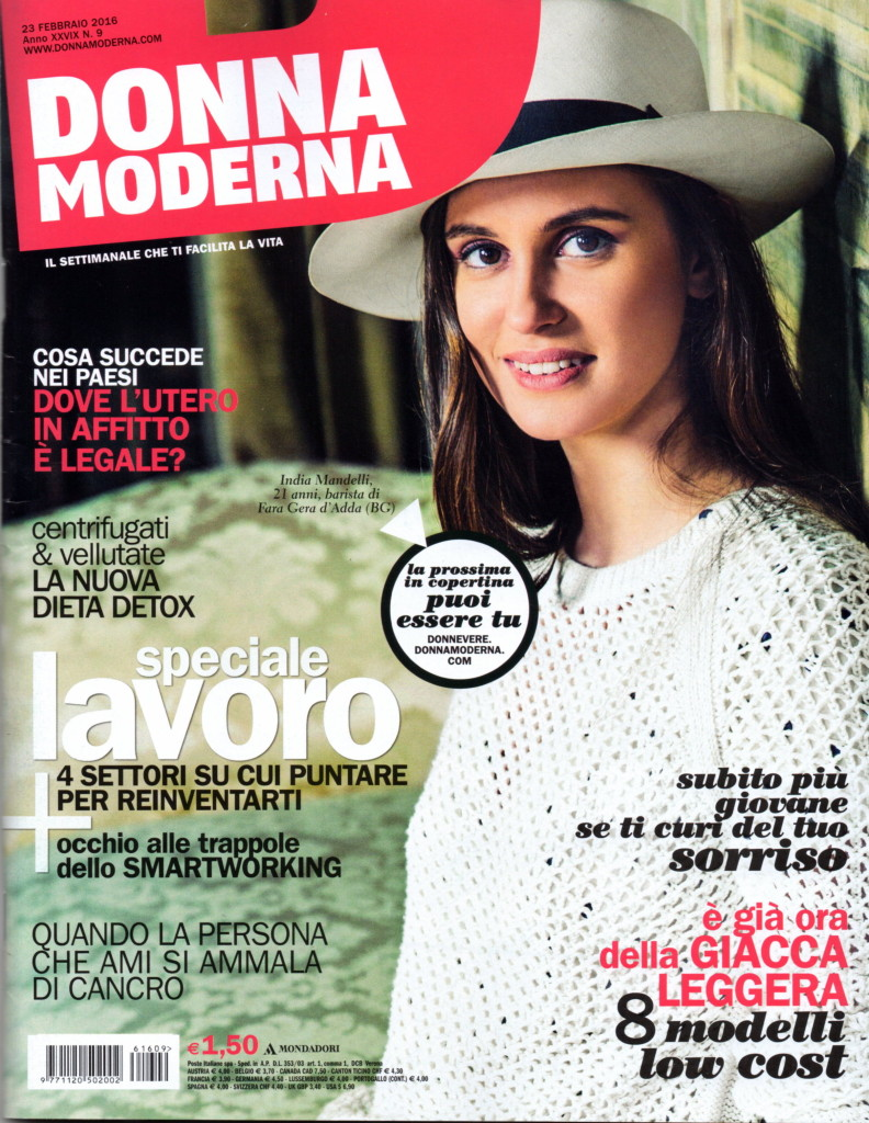 donna moderna febbraio 2016 cover